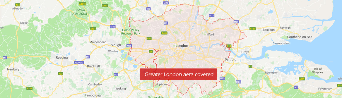 Greater London area covered